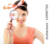 Pinup Girl With Magnifying...