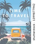 time to travel summer holidays... | Shutterstock .eps vector #1399877942