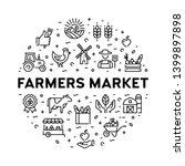 farmers market icon design set. ... | Shutterstock .eps vector #1399897898