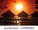 Stock photo resort maldivian houses 139989862