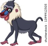 Cartoon Mandrill Baboon...