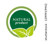 natural product icon. organic... | Shutterstock .eps vector #1399919942
