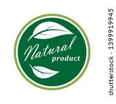 natural product icon. organic... | Shutterstock .eps vector #1399919945