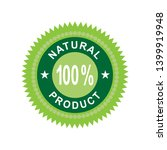 natural product icon. organic... | Shutterstock .eps vector #1399919948