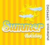 beautiful summer illustrations .... | Shutterstock . vector #139992442