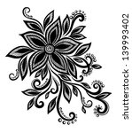 beautiful black and white... | Shutterstock .eps vector #139993402