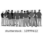 senior men's group singing | Shutterstock .eps vector #13999612