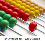 Close Up Wooden Abacus With...