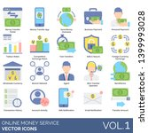 online money service icons... | Shutterstock .eps vector #1399993028