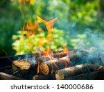 bbq fire outdoor. bonfire... | Shutterstock . vector #140000686