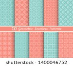 set of seamless line patterns.... | Shutterstock .eps vector #1400046752