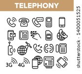 global telephony system linear... | Shutterstock .eps vector #1400051525