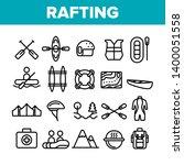 rafting trip  sport linear... | Shutterstock .eps vector #1400051558
