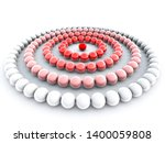 influence concept with spheres. ... | Shutterstock . vector #1400059808