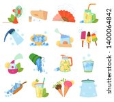 cooling things for summer.... | Shutterstock . vector #1400064842