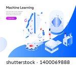 machine learning isometric...   Shutterstock .eps vector #1400069888