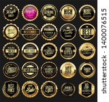 retro golden ribbons labels and ... | Shutterstock . vector #1400076515