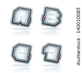 custom made squared  drawn from ... | Shutterstock .eps vector #140010085