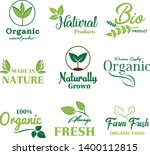 organic food  farm fresh and... | Shutterstock .eps vector #1400112815