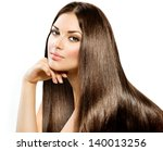 Постер, плакат: Long Straight Hair Beautiful