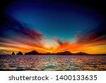 Beautiful Sunset Of Seascape...