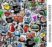 graffiti seamless texture with... | Shutterstock .eps vector #140014255