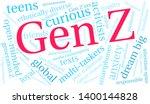 gen z word cloud on a white... | Shutterstock .eps vector #1400144828