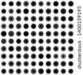 black flowers   pseudo...   Shutterstock .eps vector #1400159195