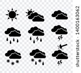 weather forecast icon set ... | Shutterstock .eps vector #1400163062