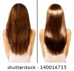 hair. before and after... | Shutterstock . vector #140016715