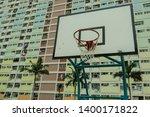 A Basketball Court  A Rainbow...