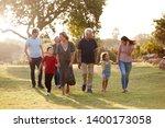 multi generation family walking ... | Shutterstock . vector #1400173058