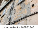 a worn and weathered wall with... | Shutterstock . vector #140021266