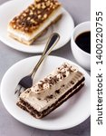tasty chocolate coffee and... | Shutterstock . vector #1400220755