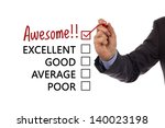 tick placed in awesome checkbox ... | Shutterstock . vector #140023198