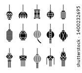 hanging lamp vector  asian... | Shutterstock .eps vector #1400232695