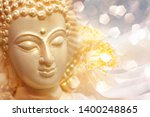 believe in buddhism  face of... | Shutterstock . vector #1400248865