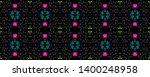 tibetan pattern. vintage shawl... | Shutterstock . vector #1400248958