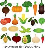 set of vector vegetables | Shutterstock .eps vector #140027542