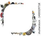 vector car parts corner frame... | Shutterstock .eps vector #1400329718