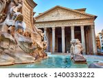 View Of Fountain Near Pantheon...