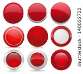 red round buttons in nine... | Shutterstock .eps vector #140033722