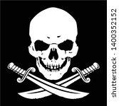 jolly roger  skull with crossed ...   Shutterstock .eps vector #1400352152