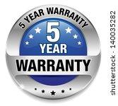 blue 5 year warranty button | Shutterstock .eps vector #140035282