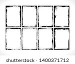 grunge textured frames... | Shutterstock . vector #1400371712