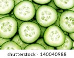 Fresh Cucumber And Slices White ...