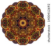 mandala  tracery wheel mehndi...   Shutterstock .eps vector #1400412692