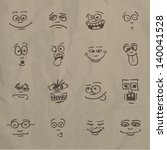 emoticons   sketch on a... | Shutterstock .eps vector #140041528