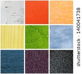 collage with nine colors... | Shutterstock . vector #140041738