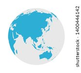 globe icon   round world map... | Shutterstock .eps vector #1400446142